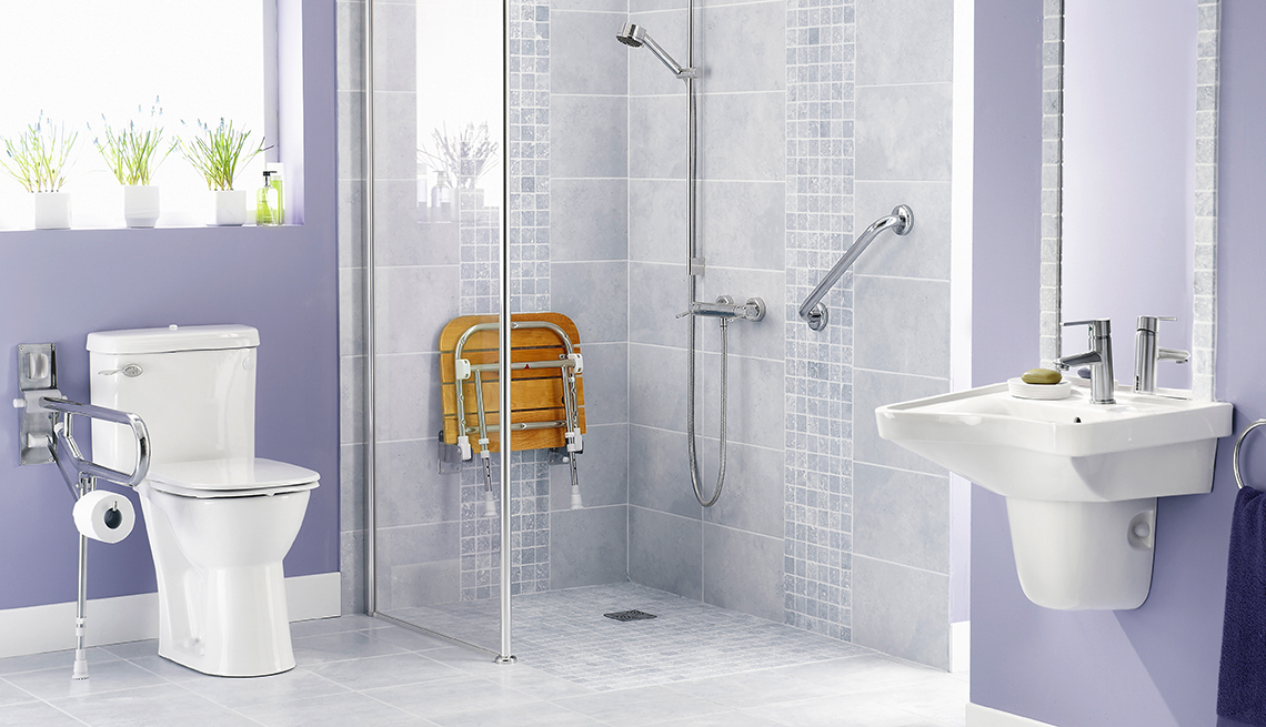 a shower and bath that are accessible for those aging in place