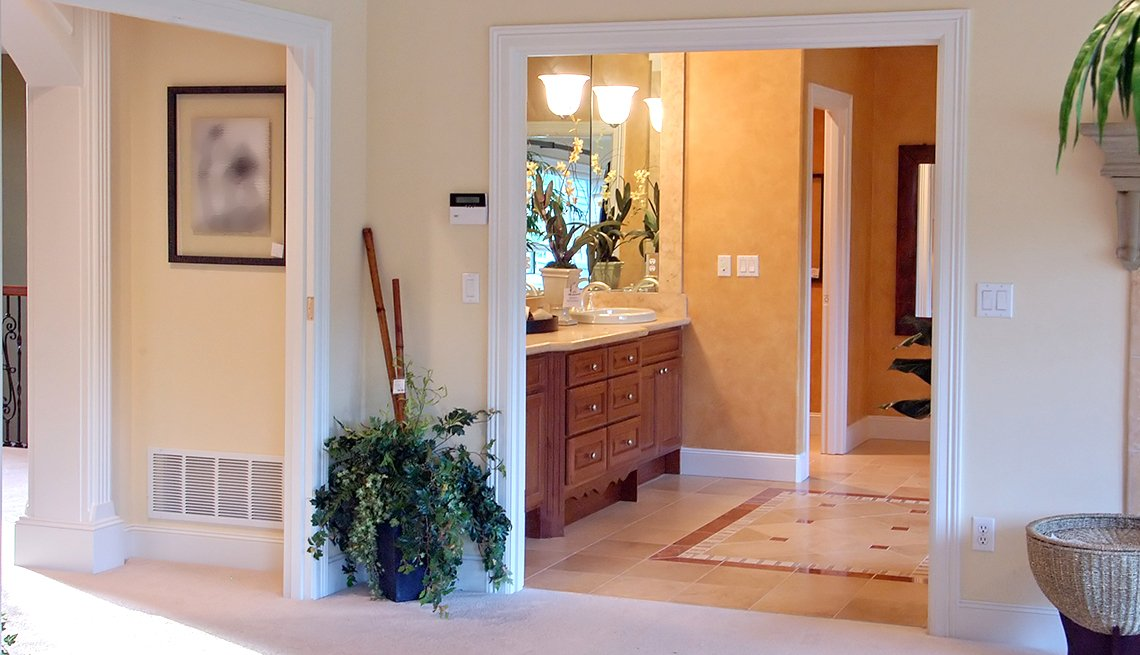 wide doorways allow for wheelchairs to pass