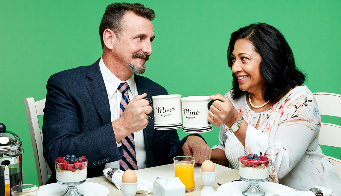 Scott and Unneetha Pruitt.   Combining homes and finances in later life creates unique challenges.