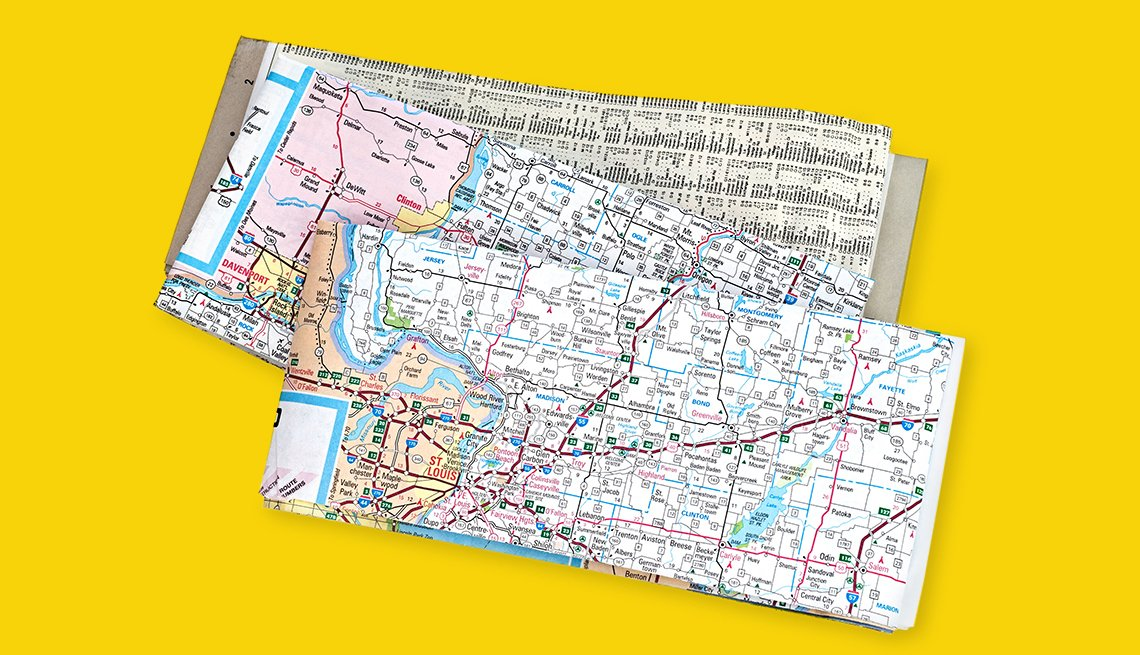 paper maps folded