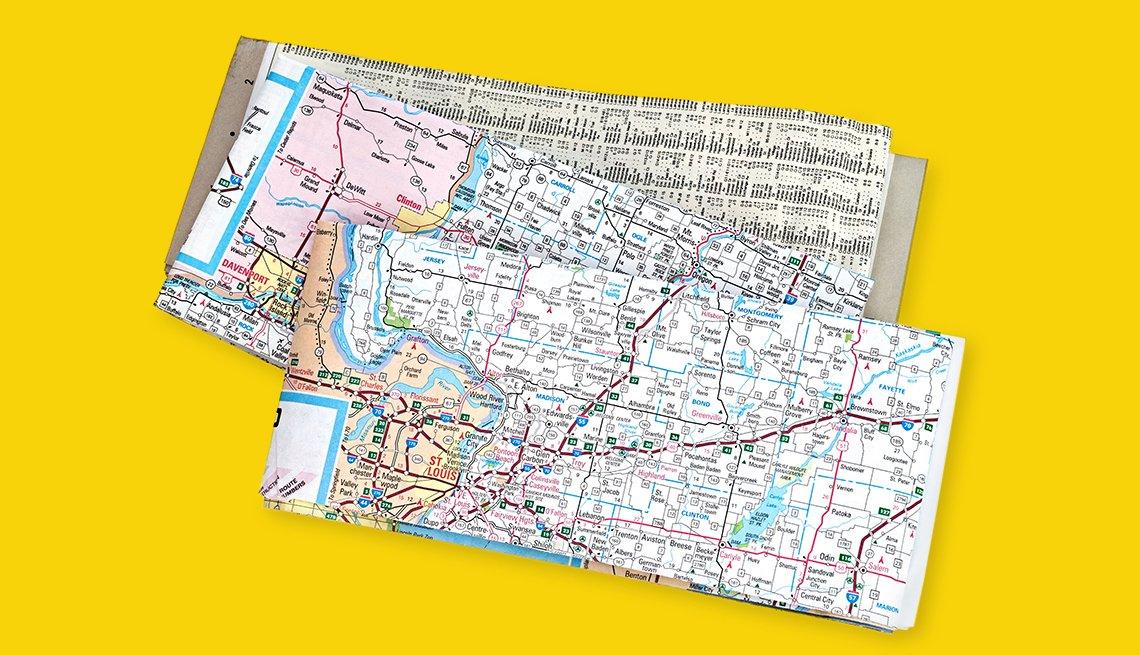 paper maps folded