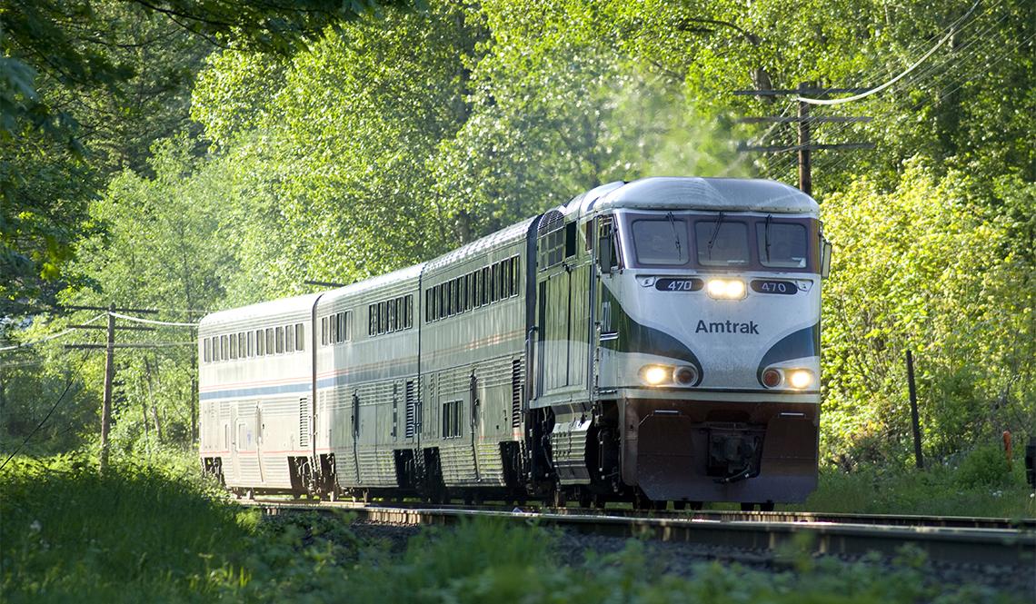 item 2 of Gallery image - Amtrak Train going through trees