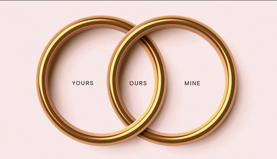 venn diagram made of wedding bands