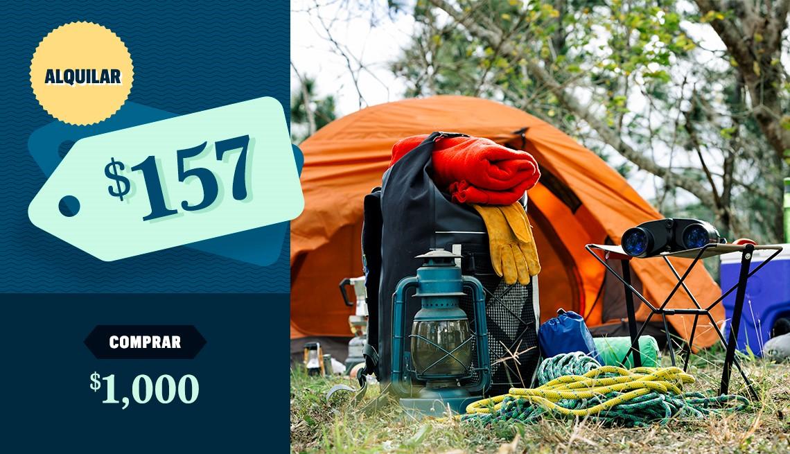 item 2 of Gallery image - Bosque con equipo de campamento