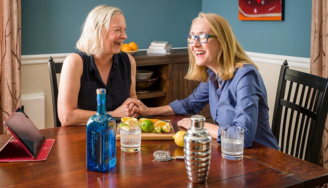 Cynthia Cooper, izquierda, y Jody Morrison