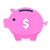 illustration of piggy bank with dollar sign
