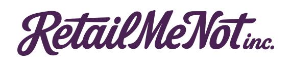 Logo de la aplicación Retail Me Not.