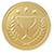 Ilustración de una medalla de oro.