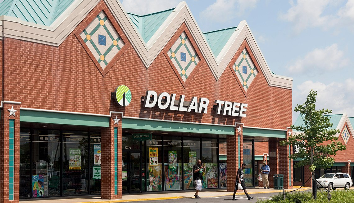 entrance to large Dollar Tree store