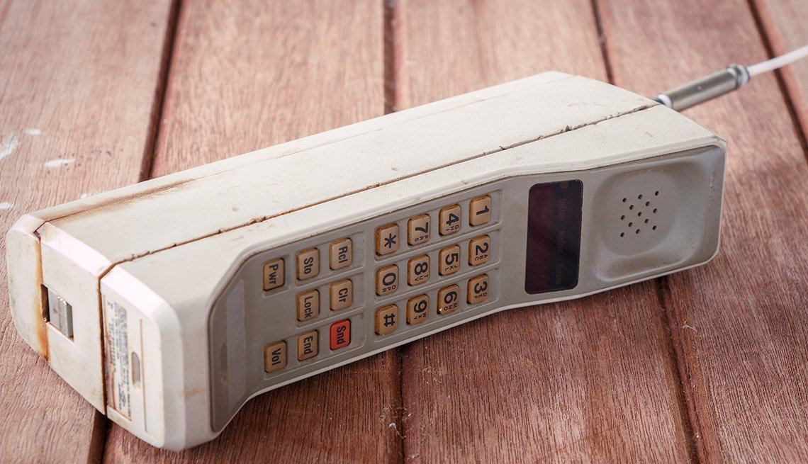 Vintage mobile phone from 1980s