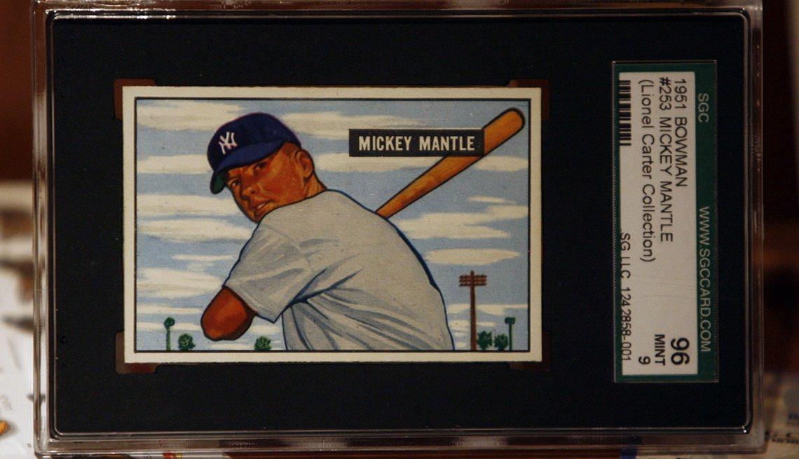 item 3 of Gallery image - Tarjeta del beisbolista Mickey Mantle.