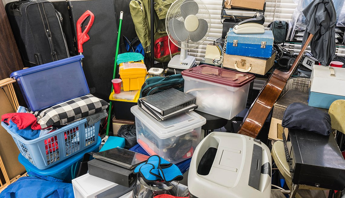 item 10 of Gallery image - a room full of unorganized stored boxes vintage electronics files business equipment and household items.