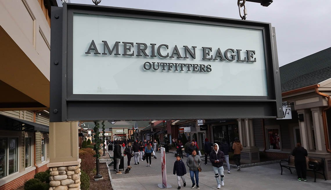 American Eagle Outfitters sign