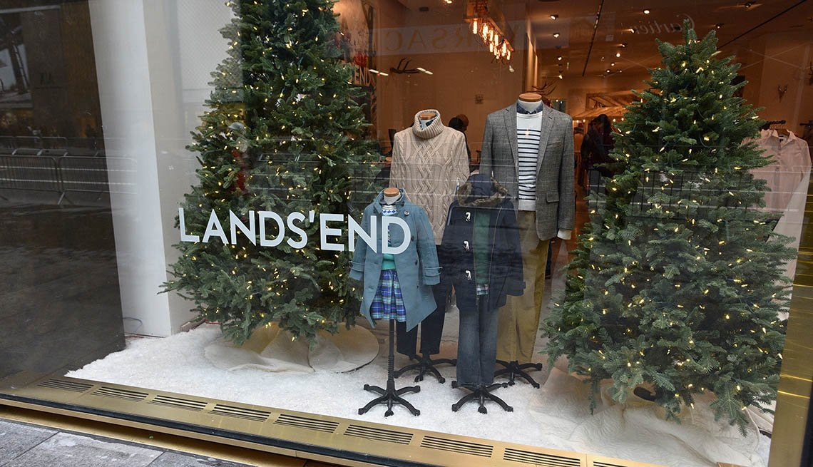 Store front view of Lands' End opening of the NYC Pop-Up