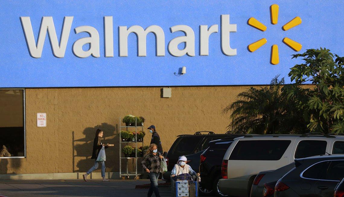 Entrada a un Walmart