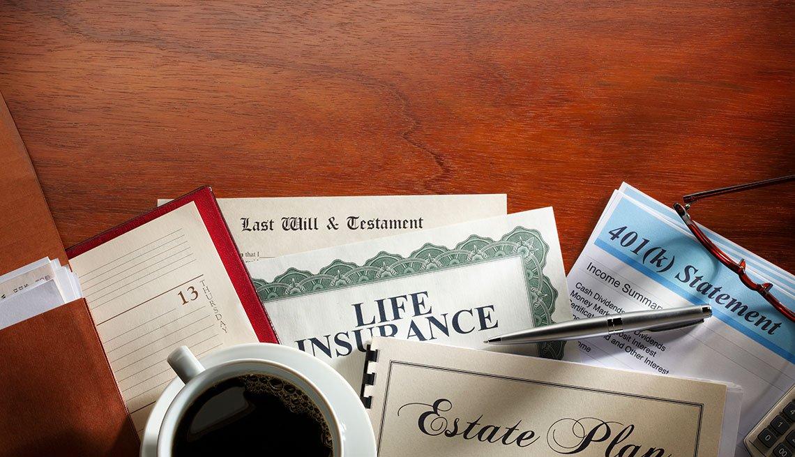 Testamento, seguro de vida y otros documentos