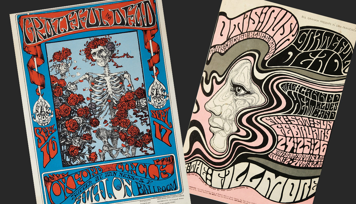 item 9 of Gallery image - Two 1960's Grateful Dead vintage rock posters
