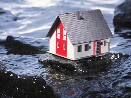 Casa en la mitad del agua