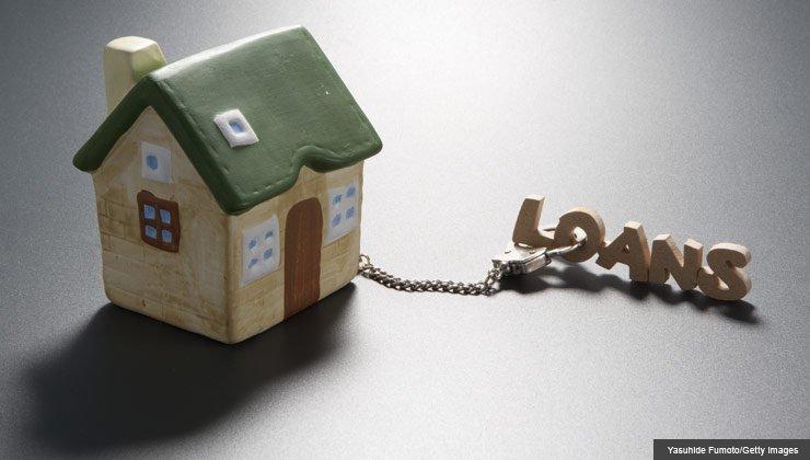 debt challenge mortgage debt retirement house handcuffs