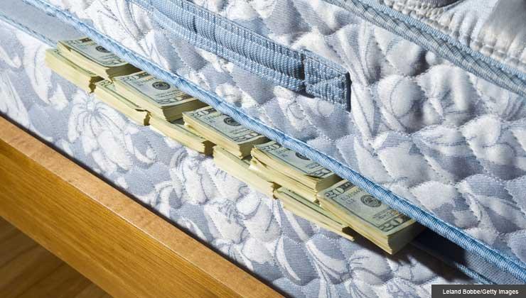 Debt challenge find $1000 to pay debt, money under mattress