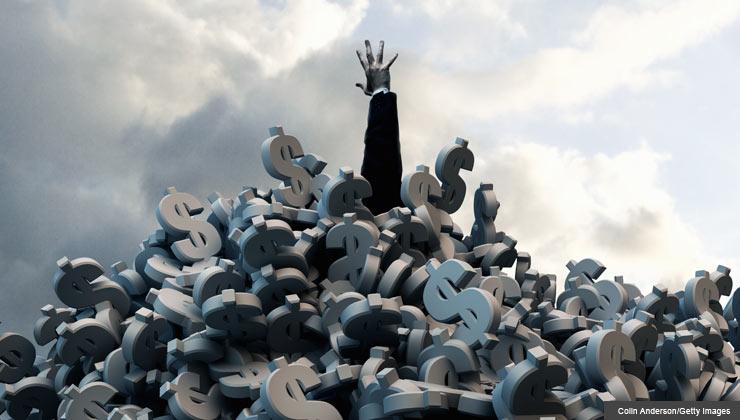 debt challenge settlement vs management hand struggling