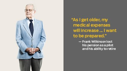 Frank Wilkinson lost  his pension as a pilot and his ability to retire