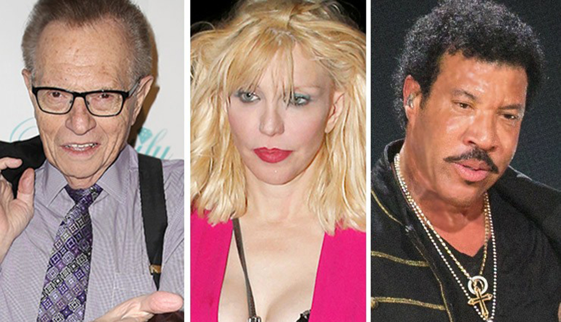 Courtney Love, Larry King, Lionel Richie