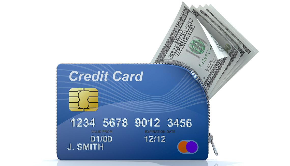Tarjeta de crédito con billetes de $100 dólares - Tarjeta de crédito que dan recompensa en efectivo