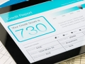 Who can see your credit score - Credit report on a digital tablet