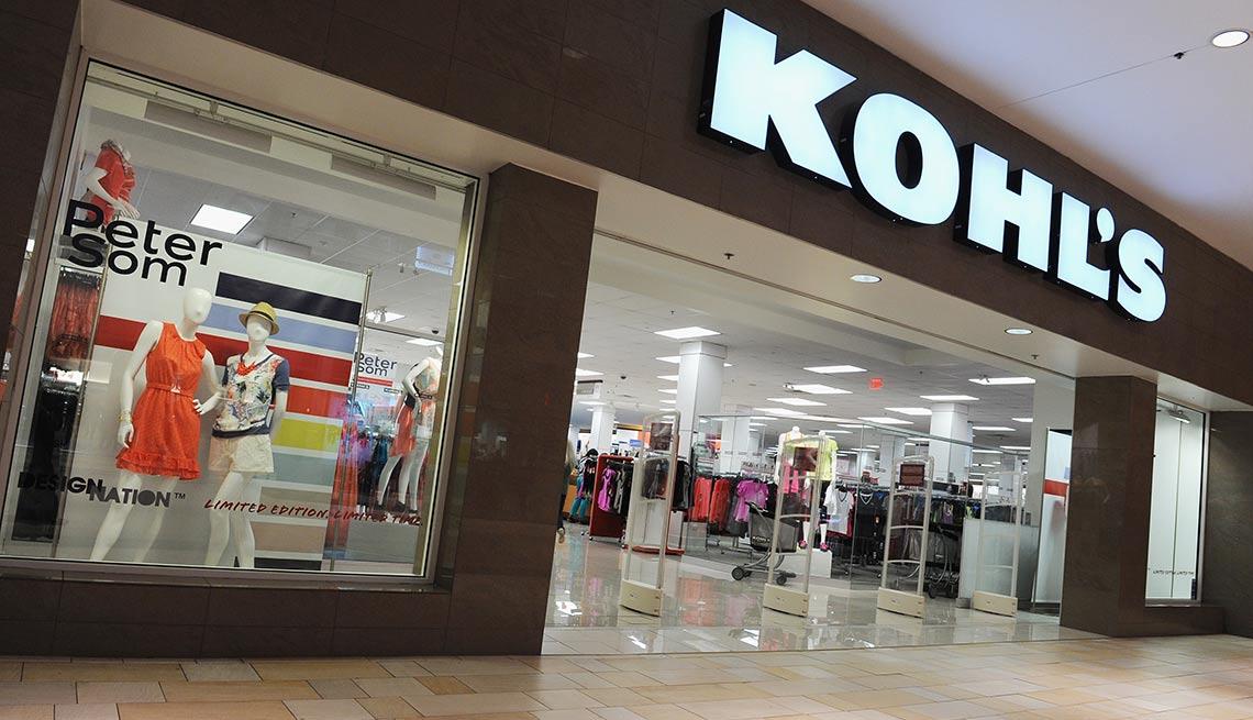 Entrada a una tienda de Kohl's- Devoluciones de las compras de navidad