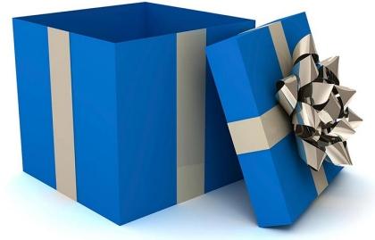 Caja de regalo con moño - Devoluciones de las compras de navidad