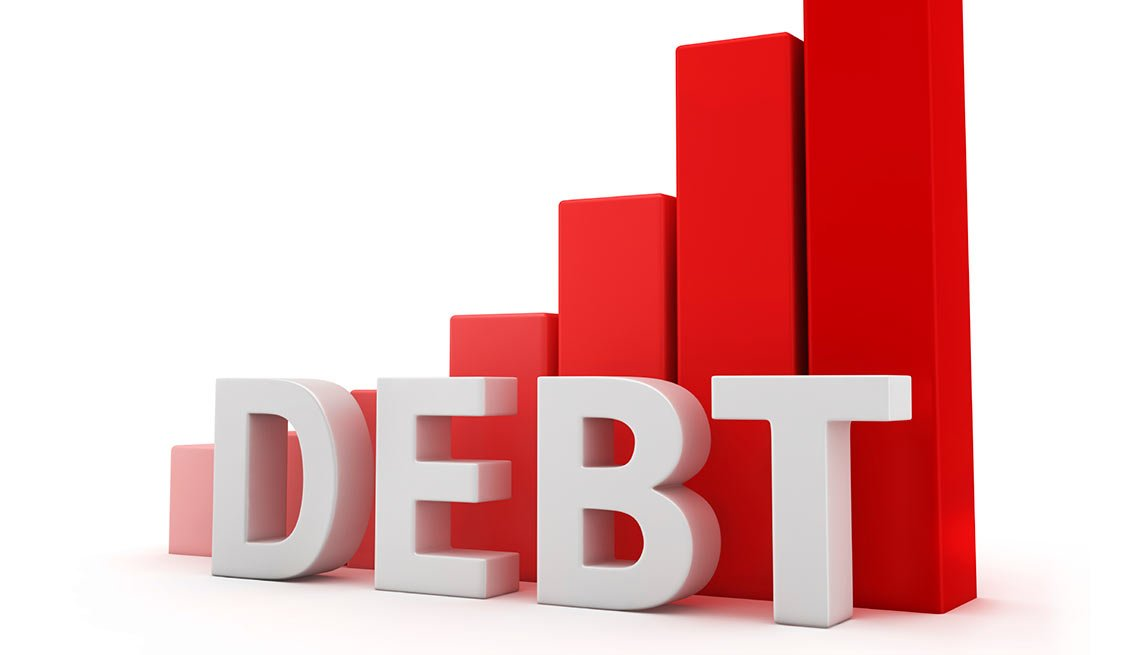 Bar graph of debt, Debt Levels Double for Older Americans