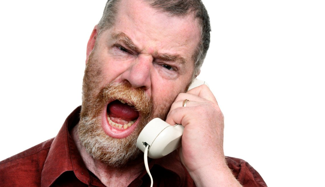 Angry Man on Phone