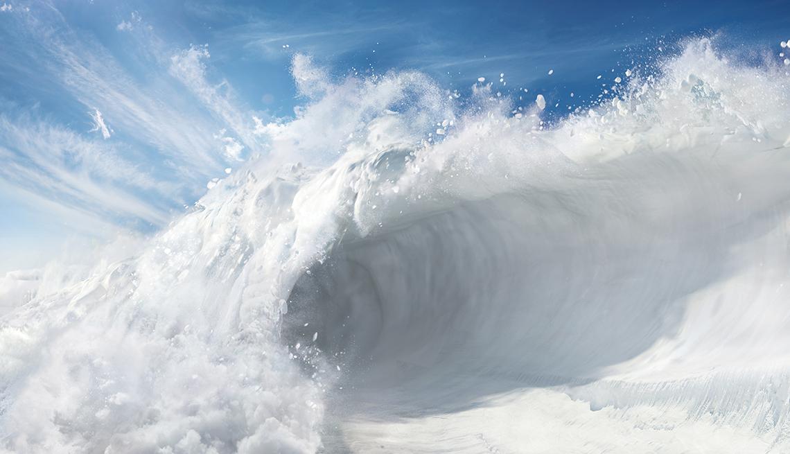 Foto ilustración de una avalancha.