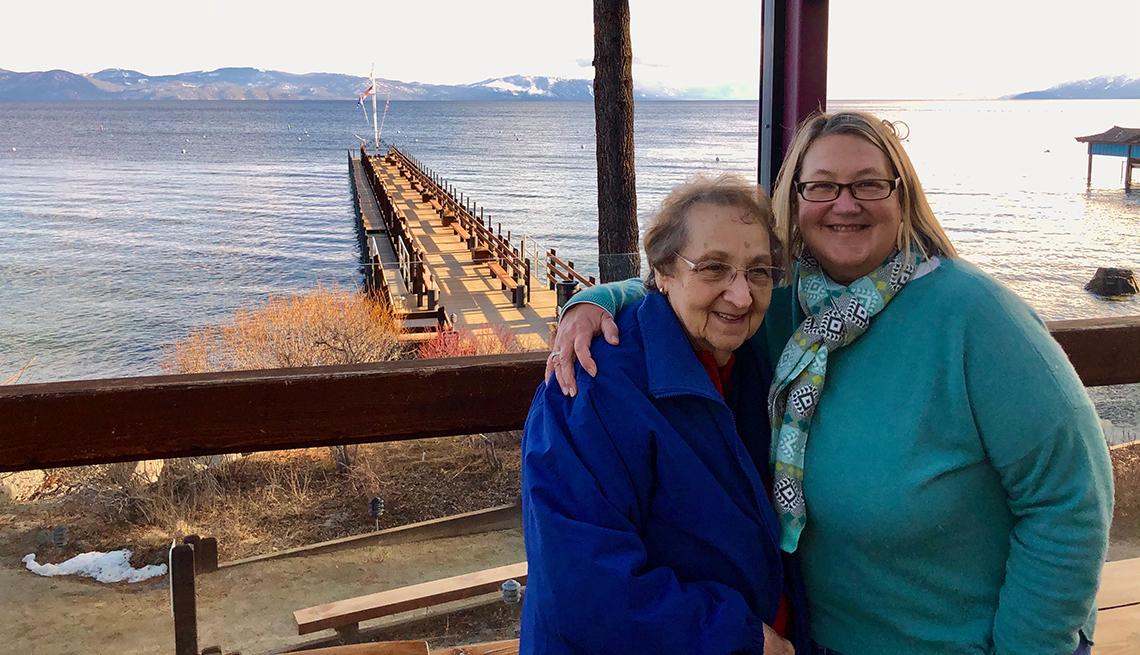 Kim Seney and her mother Joann near Taos