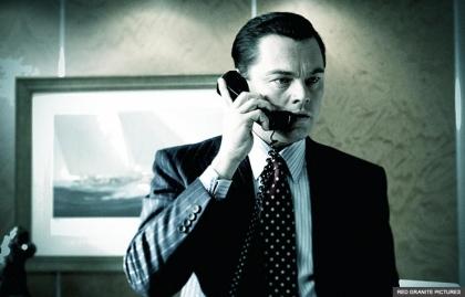 Película Wolf of Wallstreet con Leonardo diCaprio