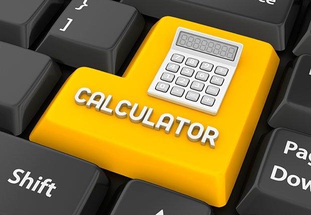 Tecla de computador con el símbolo de una calculadora, Turbo cargue su 401(k)