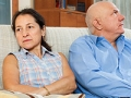 Mature couple having conflict, divorce will cost you