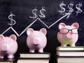 Piggy Banks with savings chart, AARP boomer money quiz