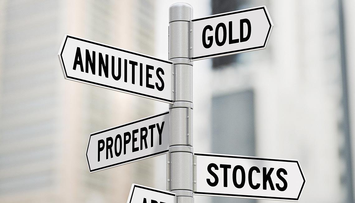 Imagen de un poste con indicadores de finanzas, como oro, propiedades, acciones - Lo que debes y no debes hacer en el 2016 con tu dinero