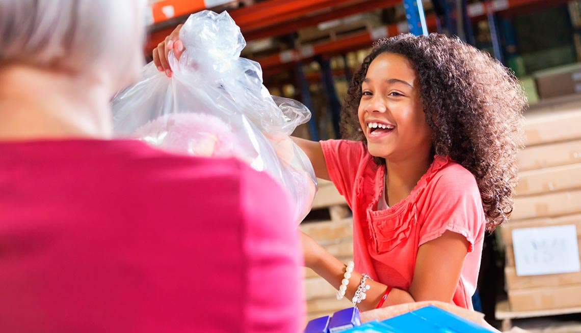 Teaching grandchildren about giving, charity and volunteering