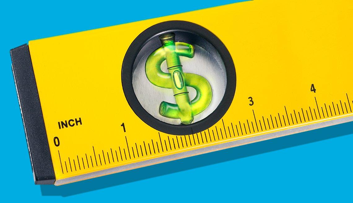 Metro con un signo de dolar