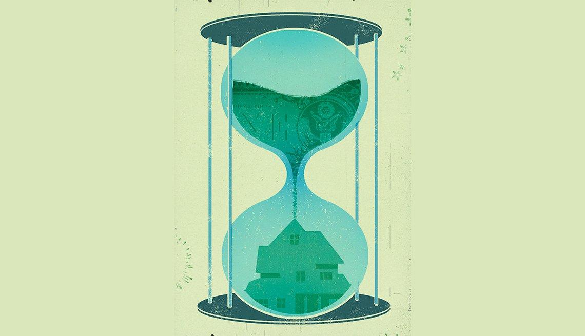 Reloj de arena verde