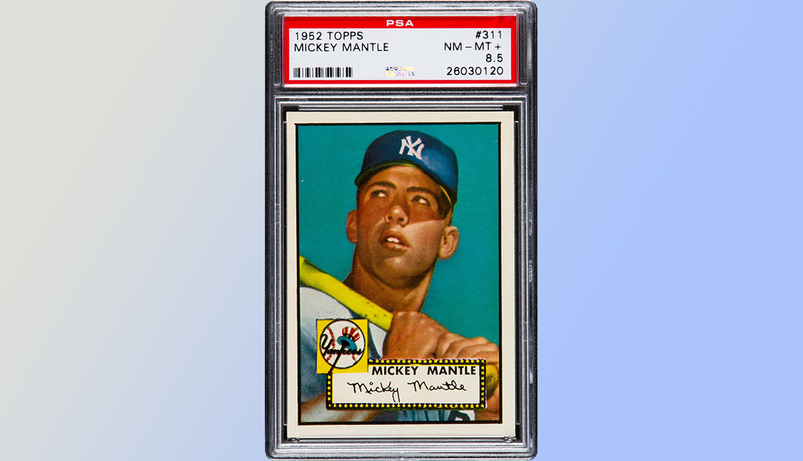 item 5 of Gallery image - Mickey Mantle baseball card -  Five Collectibles that brought big money