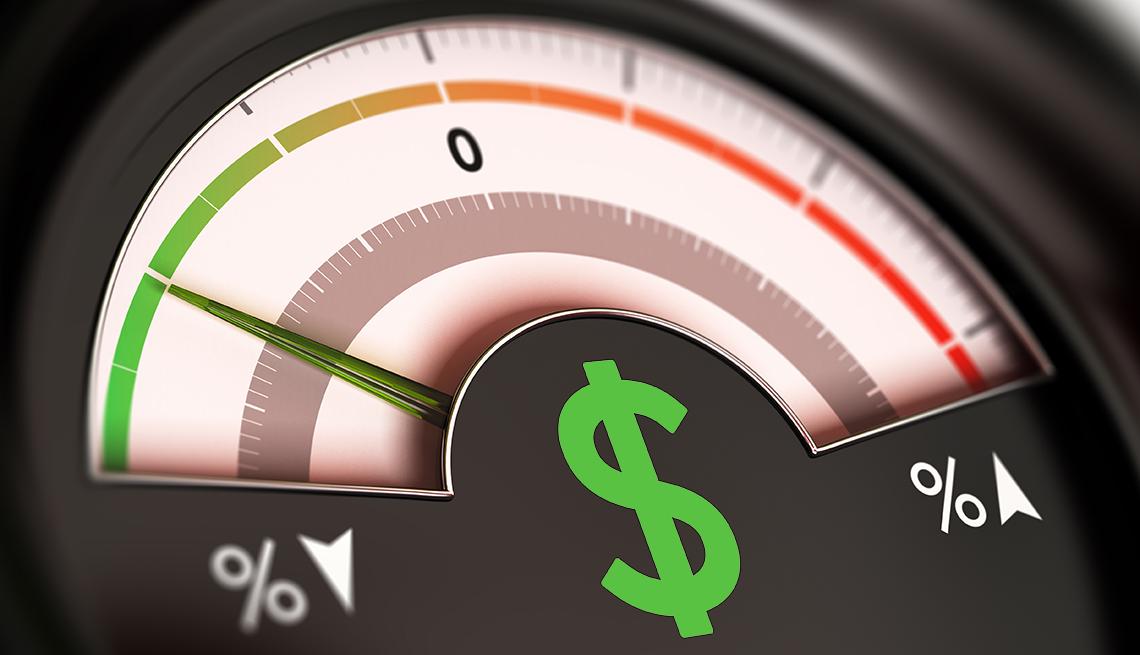 meter showing low fees