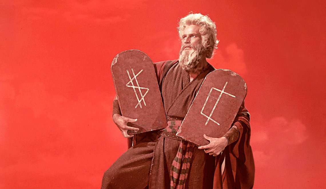 charlton heston as moses from the movie the ten commandments