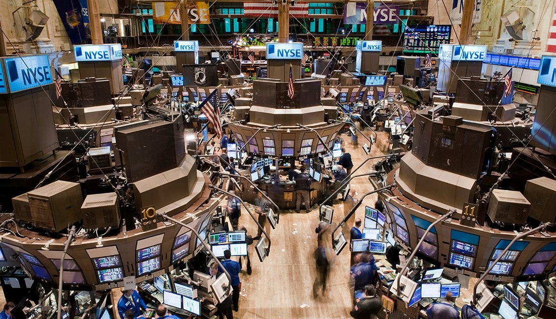 Birds eye view of the New York Stock Exchange