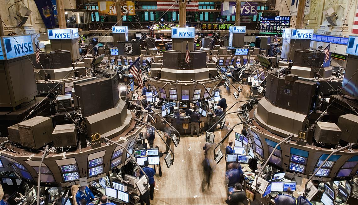 Birds eye view of the New York Stock Exchange