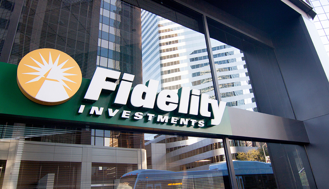 Storefront of a Fidelity Investments branch