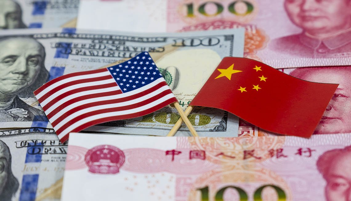 US-China-flags-money
